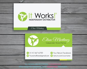 It Works Business Cards Personalized Independent Distributor Digital File IW01