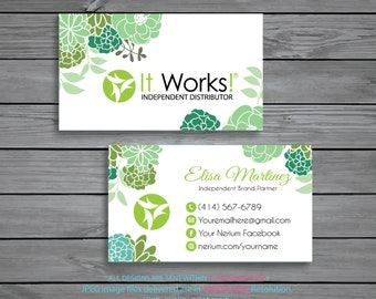 It Works Business Cards Personalized Independent Distributor Digital File IW02