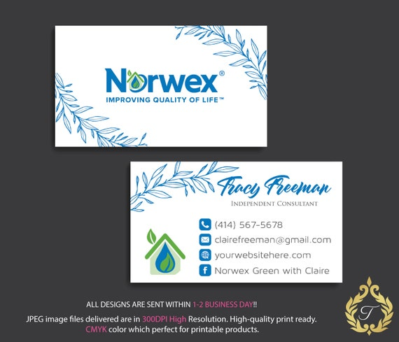 Custom business cards norwex green cleaning business cards etsy image 0 reheart Images