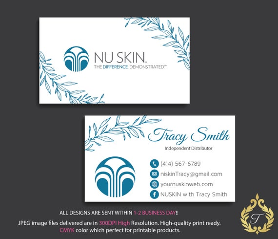 Nu skin business card personalized nuskin business card etsy image 0 colourmoves