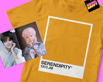 방탄소년단 BTS Jimin Serendipity Pantone Card Unisex Kpop Shirt | bts kpop | bts | bts shirt