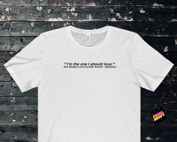 방탄소년단 bts jin iconic quote epiphany unisex kpop shirt bts