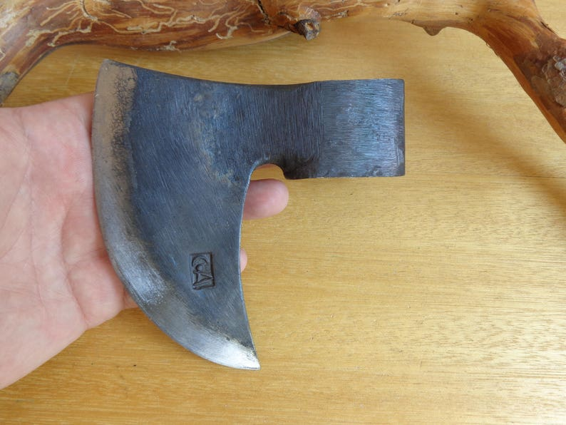Forged Handmade Viking Style Steel Sickle Blade Blank Axe Head Throwing  Hatchet Camping / Hiking / Bushcraft / Hunting / Survival Hand Tool
