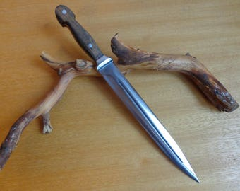 Forged Custom Handmade Steel Throwing Dagger Dirk Utility Knife Camping / Hiking / Bushcraft / Forest / Hunting / Fishing / Survival Tool