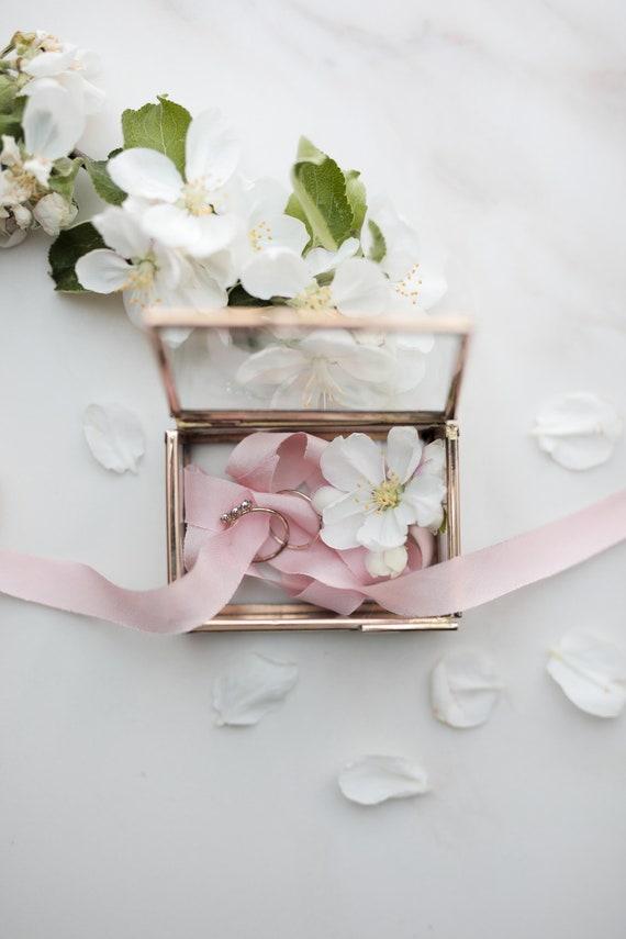 Ringbox individuell beschriftet | Glas & Gold