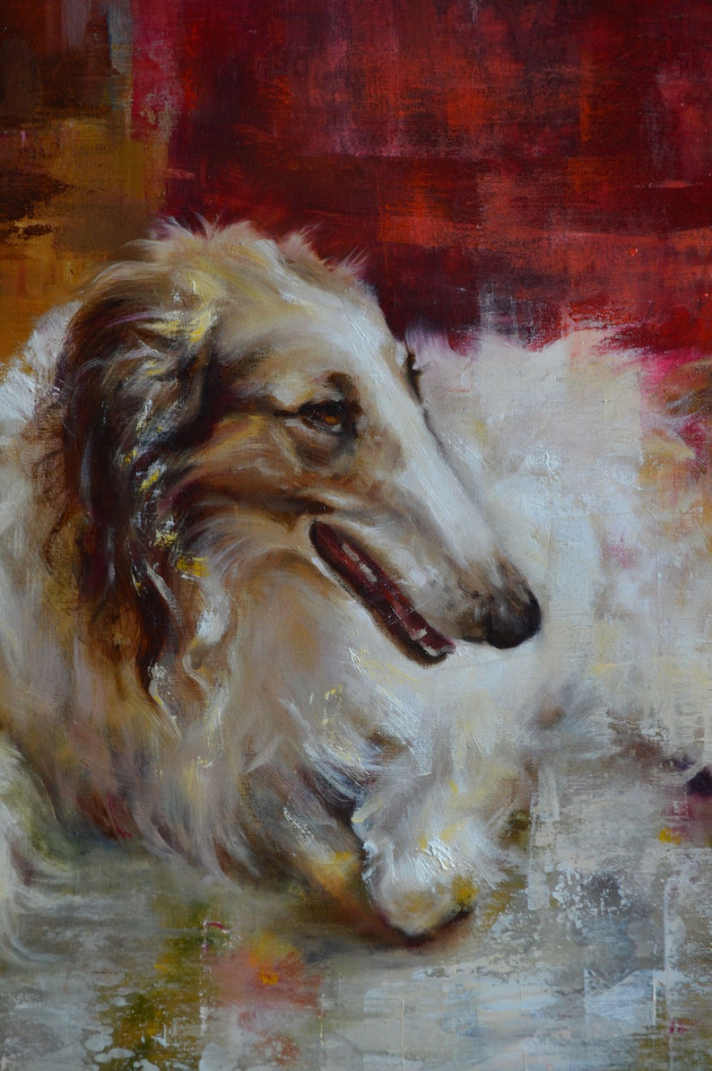 painting of a greyhound dog Picture of an animal