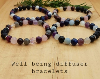 Well-being diffuser bracelets, choice of Balance, DeStress, Optimism or Night-time bracelets, free gift wrap and card included