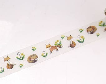 fox washi tape, animal forest washi tape