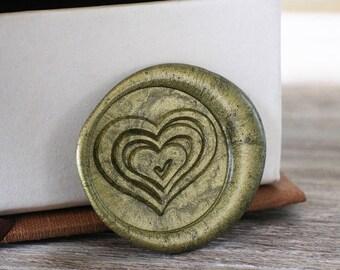 Love Heart wax seal stamp kit, love wax seal box set, wedding envelope seal,party wax seal stamp set