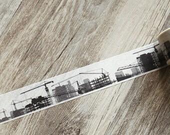 Construction washi tape,Buildings  washi tape,Infrastructure Washi tape,Industrial Washi tape, Japanese Washi Masking Tape