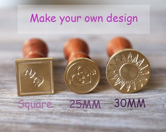 Custom wax seal stamp kit, wedding seal, personalized sealing wax with shape and size