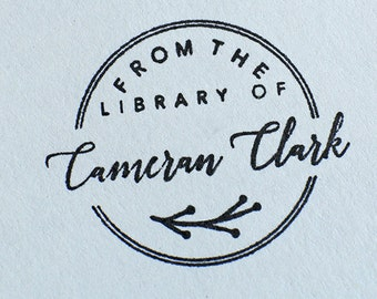 Personalized Library Stamp From The Wood Rubber Stampfrom Of Self Inking Book Teacher