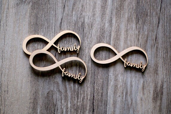 Family Forever Infinity Symbol Wood Sign Blank Wood Etsy
