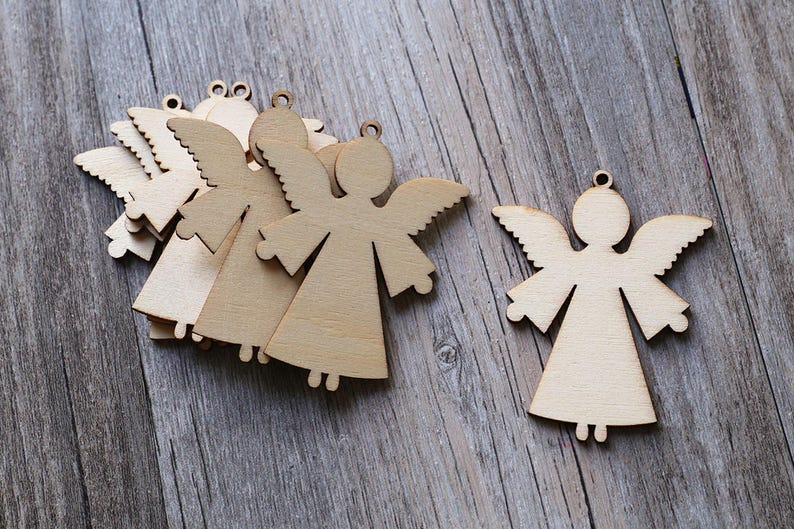20pcs Unfinished Wooden Cutout Gift Tags Scrapbooking Embellishment DIY Craft