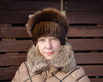 be49013e5 Polar fox fur hat   Etsy