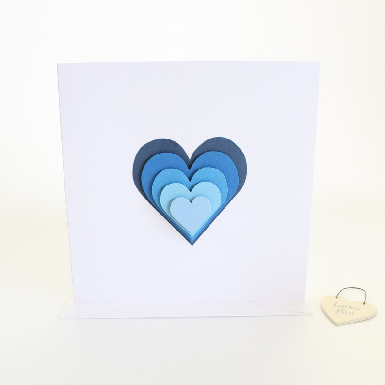 Valentine Love Valentines Card Anniversary Card Love Hearts Birthday Card Wedding Card