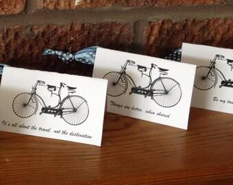 Vintage Tandem Bicycle Handmade Greeting Cards