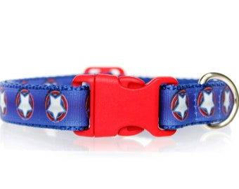 Merica 3/4 or 1 Inch Webbing Quick Release Dog Collar - See Item Details for Sizing