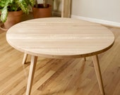 Round Scandinavian Coffee Table, Maple Coffee Table, Walnut Coffee Table, Cherry Coffee Table