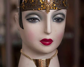 Special * Gatsby * headdress * in 1920s style, 20s, glamour, Downton Abbey, vintage