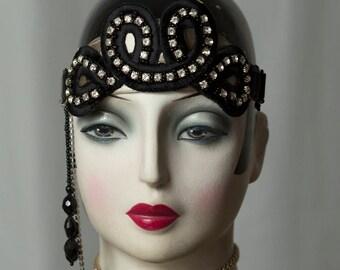Special * Great Gatsby-Flapper * headdresses/Headpiece, Glamour, headband, Downtown Abbey, headdress, vintage style.