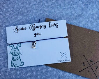 Rabbit Gift Bunny Gift House Rabbit House Bunny Rabbit Charm Rabbit Friendship Bracelet