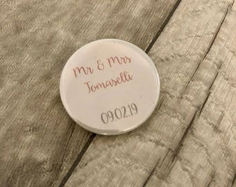 Wedding Favours, Save The Dates, Wedding Badges, Bouquet Badge, Bouquet Button, Wedding Bouquet
