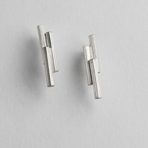 Staffa Basalt Earrings Sterling Silver Earrings from the Isle of Iona.