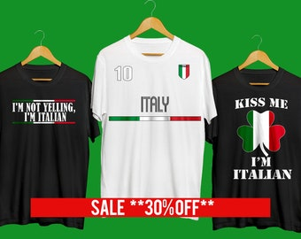 e02a03f3 Italian T-shirt Funny Italian T-shirt I'm Not Yelling I'm Italian Funny  Italy T-shirt Gift For Italian Italy souvenir Unisex T-Shirt
