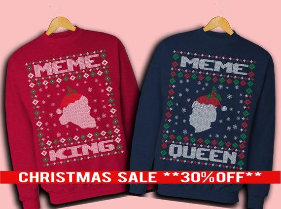Ugly Christmas Sweater Meme.Ugly Christmas Sweater Meme Meme Christmas Sweater Meme King Meme Queen His And Her Couples Ugly Christmas Sweater Meme Ugly Xmas