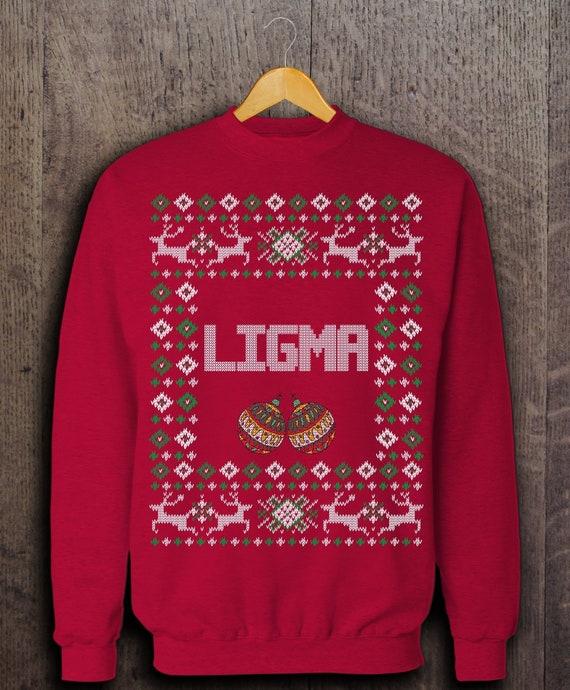 Ugly Christmas Sweater Meme.Couples Ugly Christmas Sweater Couples Christmas T Shirt Pajamas Ligma Ugly Christmas Sweatshirt Ligma Balls Meme Ligma Ninja Shirt