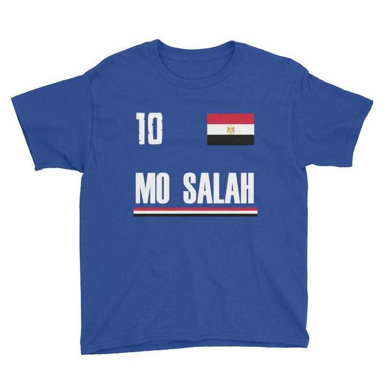 cdf154642 Kids Mo Salah Egyptian Soccer Jersey Shirt Egypt Football