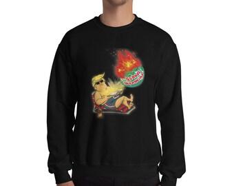ce79d34f Funny President Trump Global Warming Crewneck Sweater, Funny Donald Trump  Sweater, President Donald Trump Sweatshirt