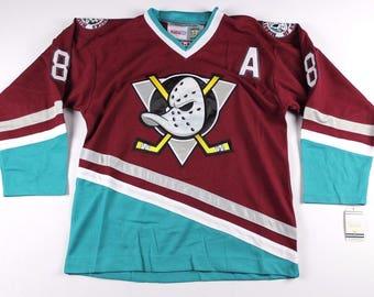 98c13e19 90s Reworked Anaheim Ducks Teemu Selanne #8 Custom Hockey Jersey Light  Purple, Vintage Teemu Selanne Jersey, Anaheim Ducks Jersey, Vintage
