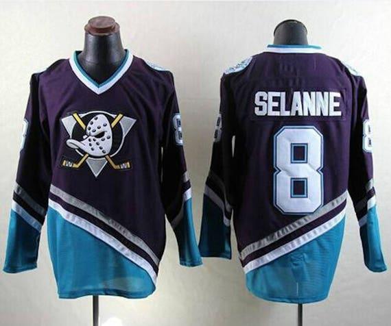 designer fashion 4fefb 06928 90s Reworked Anaheim Ducks Teemu Selanne #8 Custom Hockey Jersey Purple,  Vintage Teemu Selanne Jersey, Anaheim Ducks Jersey, Vintage Jersey