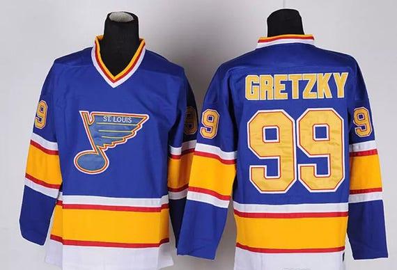 90s Reworked St Louis Blues Wayne Gretzky 99 Custom Hockey  7be52e36266