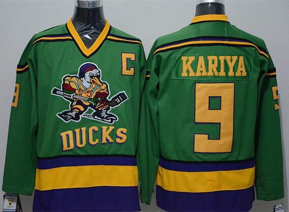 e77e49d81 90s Reworked Mighty Ducks Movie Paul Kariya 9 Custom Hockey