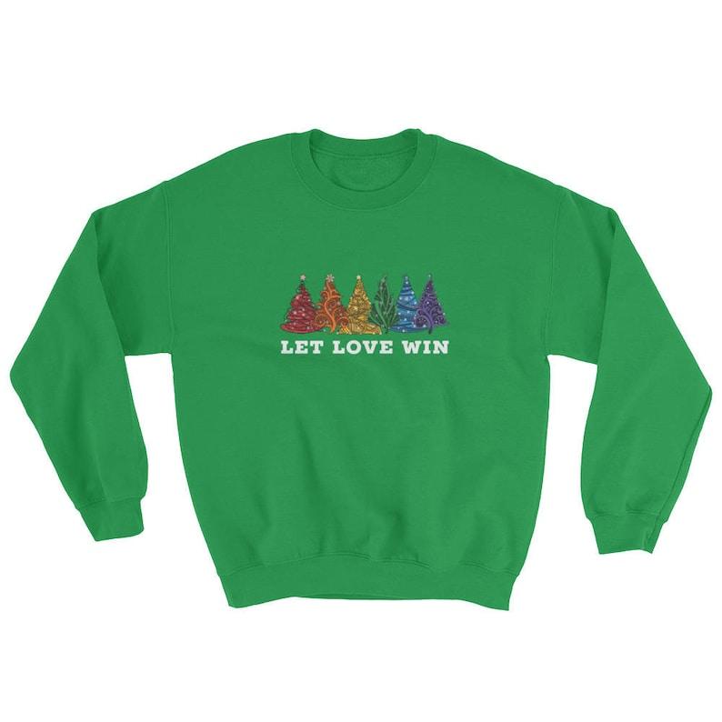 Happy Holigays Christmas Sweatshirt Happy Holigays Sweater Gay Christmas Sweater