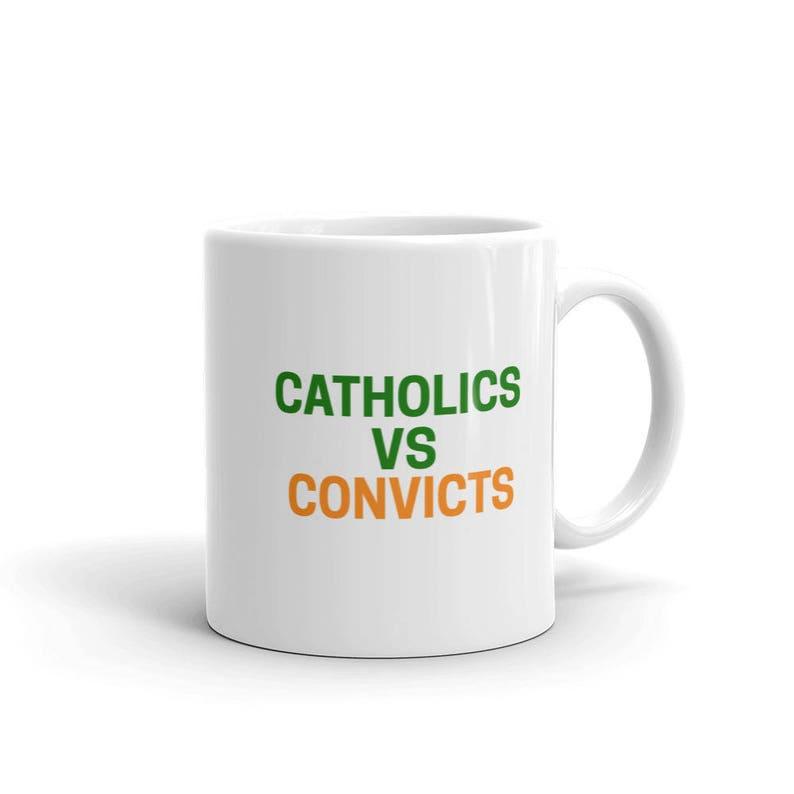 cef556acf50 Vintage 1988 Catholics Vs Convicts Notre Dame Miami Hurricanes
