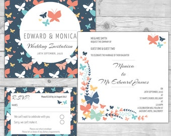 Butterfly Wedding Invite 2