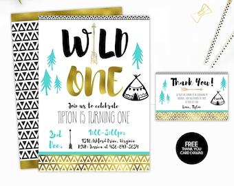 Wild One Birthday Boy, Wild One Birthday Invite, Wild One Birthday, Tribal Birthday, Tribal Invitation, Wild One Invite, Tribal Invite,