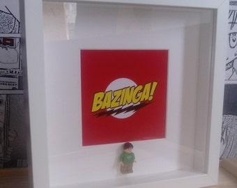 Big Bang Sheldon mini figure box frame