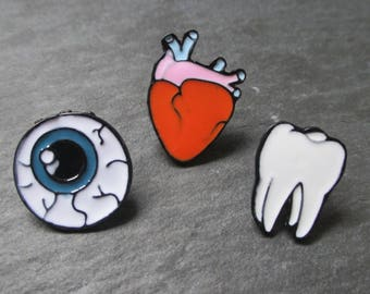 Anatomy Pin Badge, set of 3