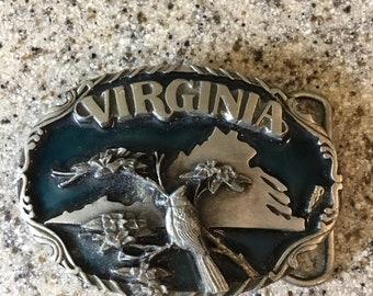 Heritage Pewter Virginia Tech Hokies Belt Buckle