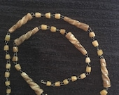 Vintage Banded Agate Wired Beaded Necklace