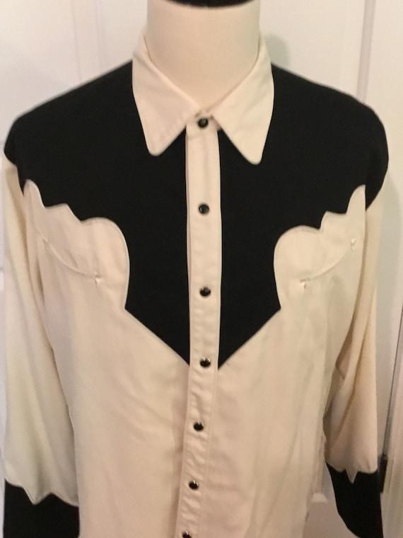 Vintage Skully Snap Button Rockabilly Shirt