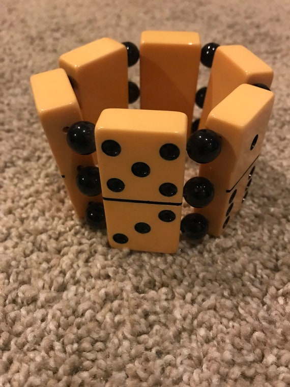 Mid Century Bakelite Domino Bracelet