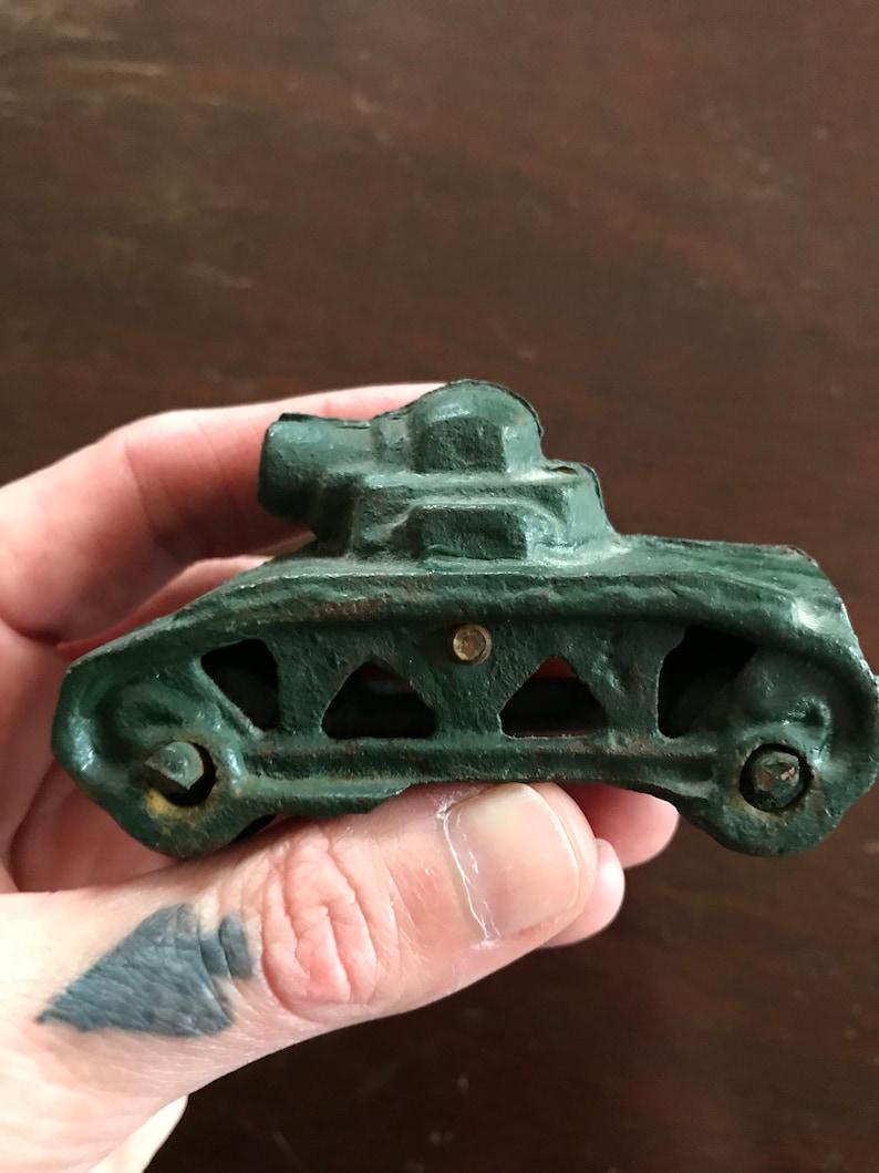 Vintage Cast Iron Toy Tank