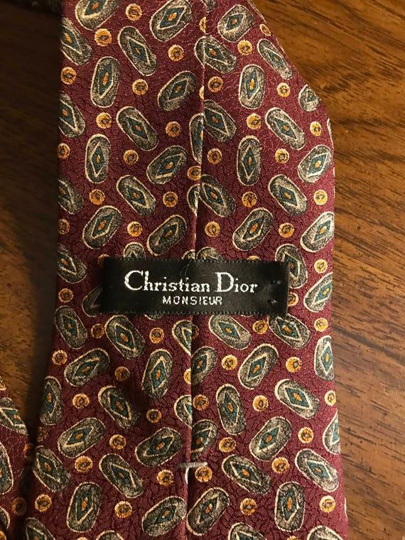 Vintage 1980's Christian Dior Necktie - image 3