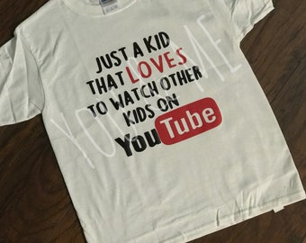 3c77ee2ae Just kid who loves to watch other kids on Youtube, graphic T-shirt